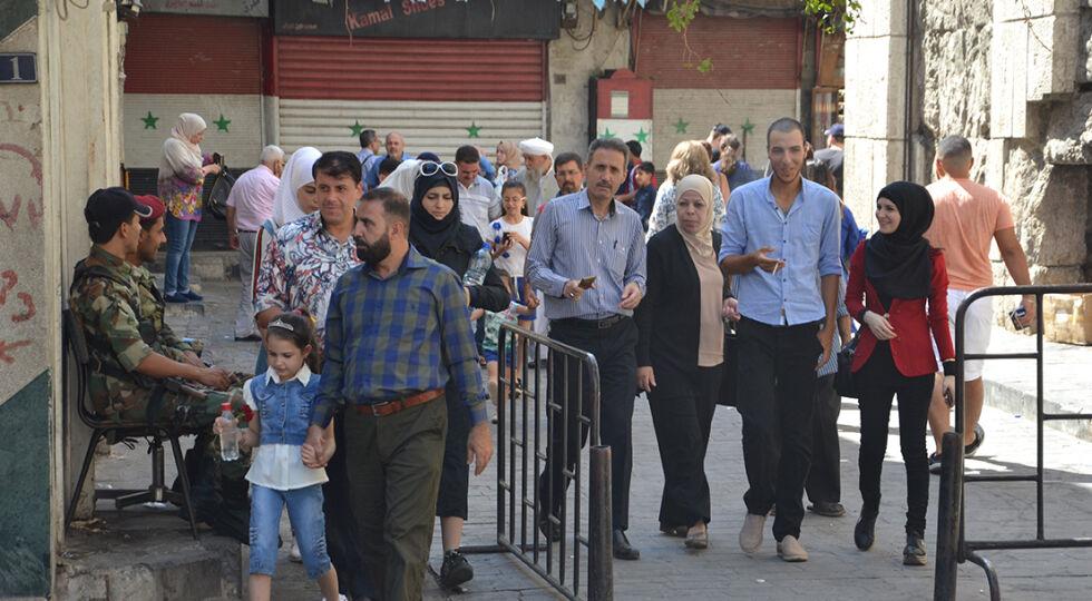 Syrien - Straßenszene in Damaskus. - © Foto: ICO