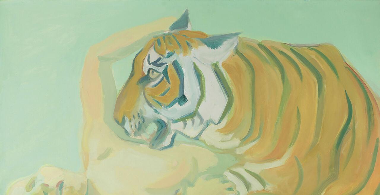 Mit einem Tiger schlafen, Maria Lassnig - © Foto: Albertina, Wien – Dauerleihgabe der Oesterreichischen Nationalbank © Maria Lassnig Stiftung