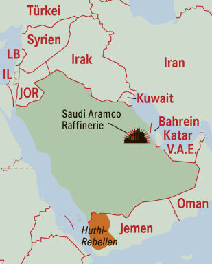Saudi Arabien - © Grafik: Rainer Messerklinger (Quelle: APA)