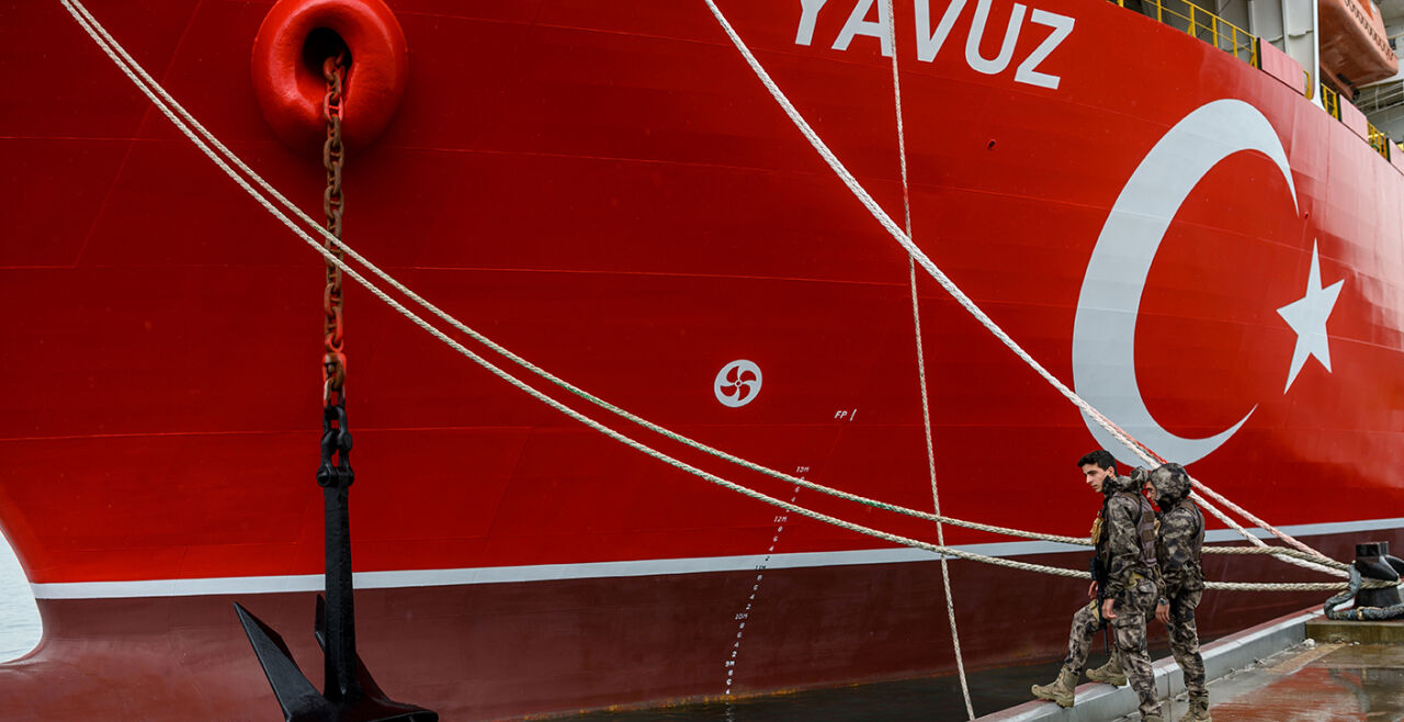 Türkisches Bohrschiff - © Foto: APA/AFP/Bulent Kilic