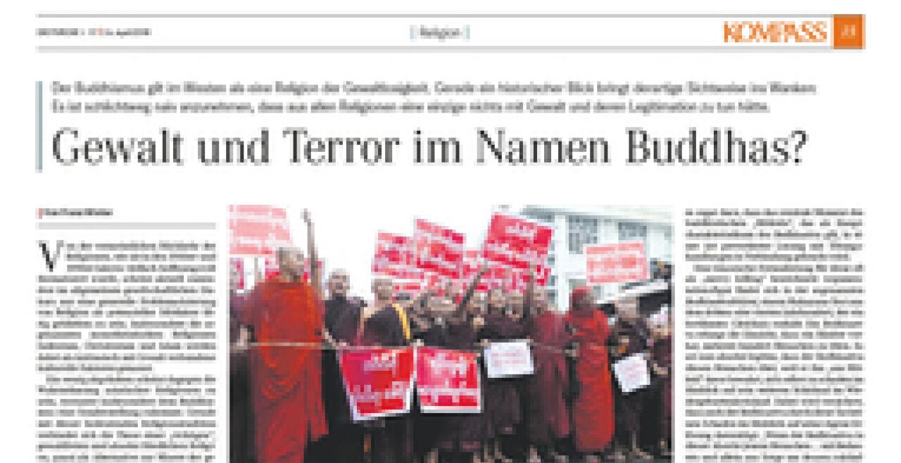 Gewalt und Terror im Namen Buddhas? | Die FURCHE