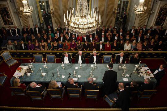 Nobelpreis - © Foto: AFP Photo / Scanpix Sweden / Hendrik Montgomery