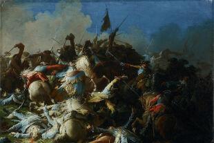 """Die Schlacht von Schärding - © """"Die Schlacht von Schärding"""" (um 1742) von Josef Ignaz Mildorfer. Foto: Salzburg Museum"""