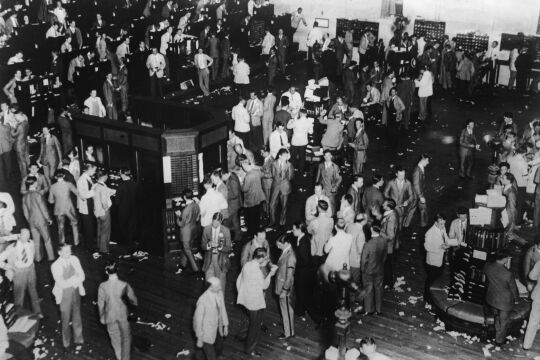 Black Thursday - © Getty Images / Ullstein Bild (New York Stock Exchange, 24. 10. 1929)