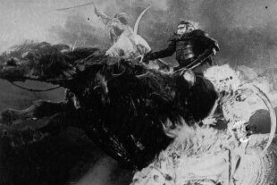 "Apokalyptischer LSD-Rausch - <strong>Globaler Kollaps</strong><br /> Divjaks Text gemahnt an die Reiter der Apokalypse, das ""sechste Massensterben"" wird eingeläutet. - © Getty Images / John Kobal Foundation"