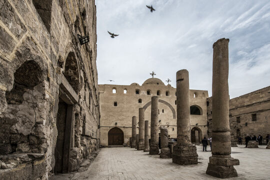"""Weißes Kloster  - Das """"Weiße Kloster"""" in Mittelägypten. - © Foto: APA / AFP / Khaled Desouki"""