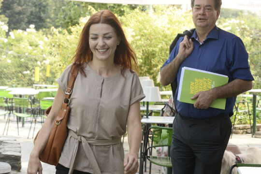 Ewa Ernst-Dziedzic und Werner Kogler - © Foto: APA / Herbert Pfarrhofer