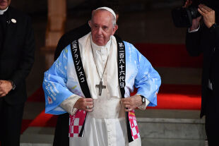 Papst in Tokio - © APA / AFP / Vincenzo Pinto (Papst Franziskus am 23.11. in Tokio)