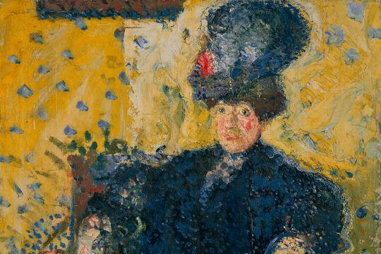 Gerstl: Bildnis Mathilde Schönberg als Halbfigur - © Foto: Privatsammlung   Private Collection