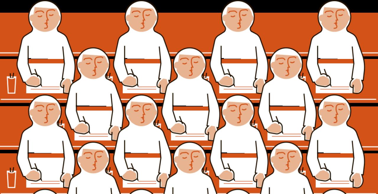"""Steretype Langweiligkeit - """"Die Folge davon ist, dass stereotype Schülertexte entstehen, deren Hauptmerkmal langweilige Bravheit ist."""" - © Rainer Messerklinger"""