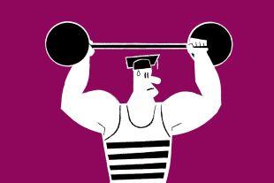 Gewichteheber - © Illustration: Rainer Messerklinger