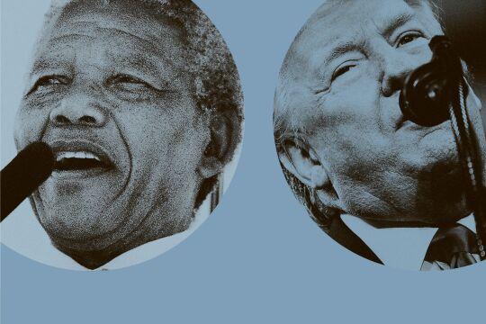 Politnarzissmus - © Collage: Rainer Messerklinger (unter Verwendung eines Bildes von AFP / Walter Dhladhla und APA / AFP/ Brendan Smialowski