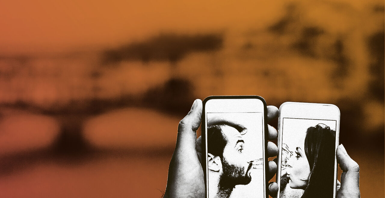 Tinderei - © Collage: Rainer Messerklinger (unter Verwendung eines Bildes von iStock / FilippoBacci)
