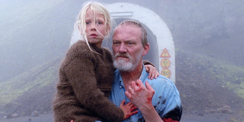 Großvater und Enkelin - Ingvar Sigurðsson als Einzelkämpfer Ingimundur und Ída Mekkín Hlynsdóttir als seine geliebte Enkelin Salka. - © Polyfilm