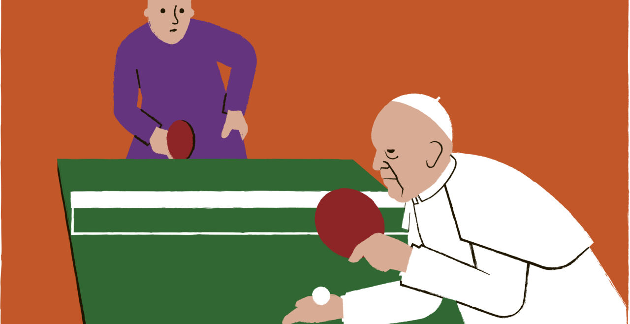 Papst - © Illustration: Rainer Messerklinger