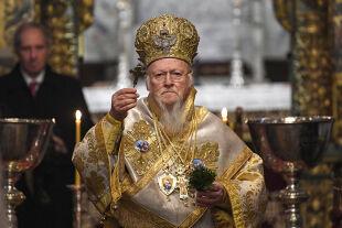 Bartholomaios I. bei einer Liturgie im Phanar, seinem Amtssitz in Istanbul - © Foto: APA / AFP/ Ozan Kose