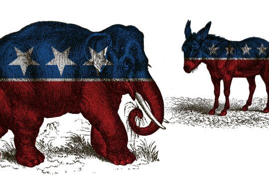 US Wahl - © Collage: Rainer Messerklinger  (unter Verwendung eines Bildes von iStock/THEPALMER und iStock/Nastasic)