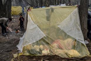 Flüchtlinge Griechenland - © Foto: APA / AFP / Bulent Kilic