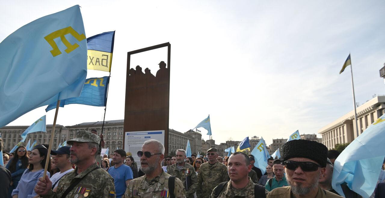 Krimtataren - © Foto: APA/ AFP/ Genya Savilov