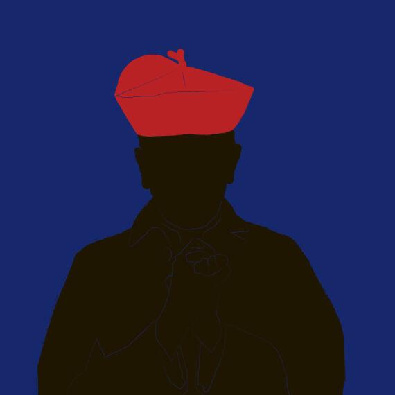 Groer Schatten - © Illustration: Rainer Messerklinger (basierend auf einem Foto  von Kardinal Hans Hermann Groër)