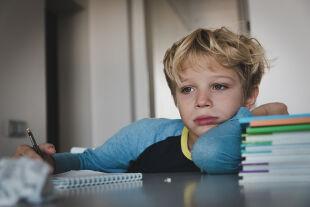 Schüler allein zuhaus - © Foto: iStock/Nadezhda1906