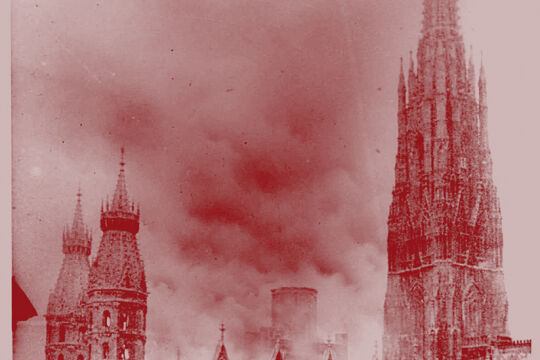 Steffl 1945 - © APA / ÖNB-Bildarchiv / Albert Hilscher (Bildbearbeitung: Rainer Messerklinger)