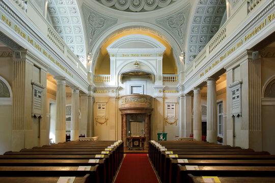 Reformierte Stadtkirche Wien - © Wikipedia / Bwag / cc-by-sa-4.0. - Innenraum der Reformierten Stadtkriche in Wien