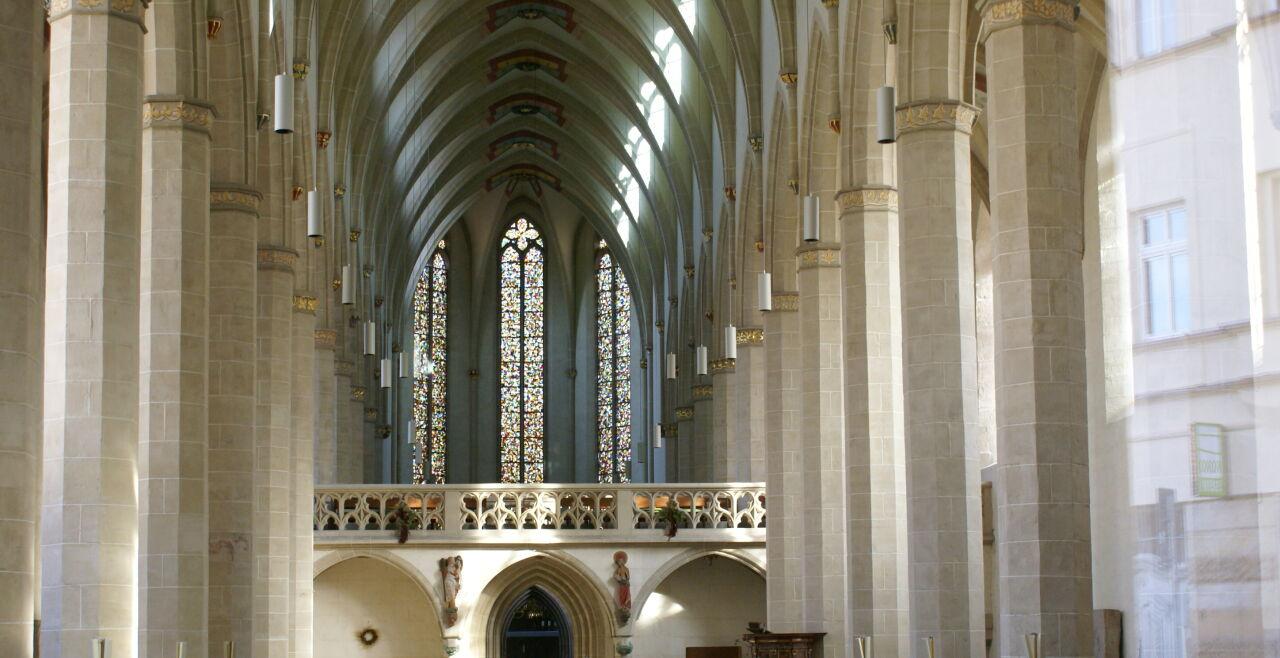 Predigerkirche Erfurt - © Kalus Gasperi - Innenraum der Predigerkirche in Erfurt, an der Meister Eckhart wirkte