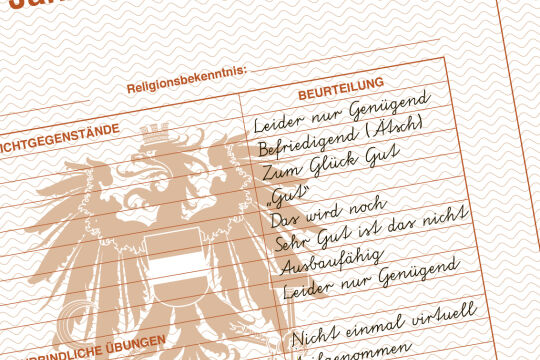 Zeugnis Hopmann - © Illustraiton: Rainer Messerklinger