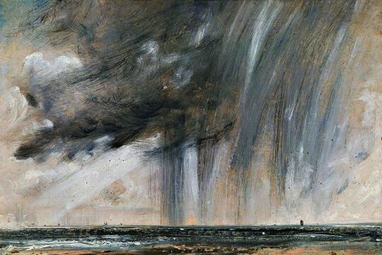 """rainstorm - © Getty Images / Dea Picture Library (Bild: """"Rainstorm over the sea"""" ca 1824-1828, John Constable (1776-1837); Öl auf Papier)"""
