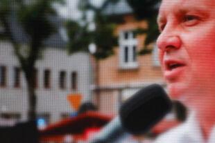 Duda Polen - © Foto: APA / AFP / Wojtek Radwanski