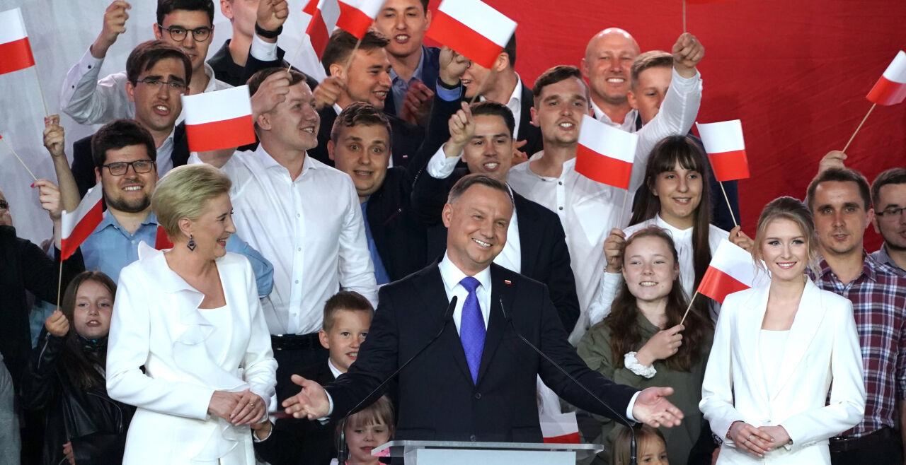 Duda Wahlsieg - © Foto: APA / AFP / Janek Skarzynski