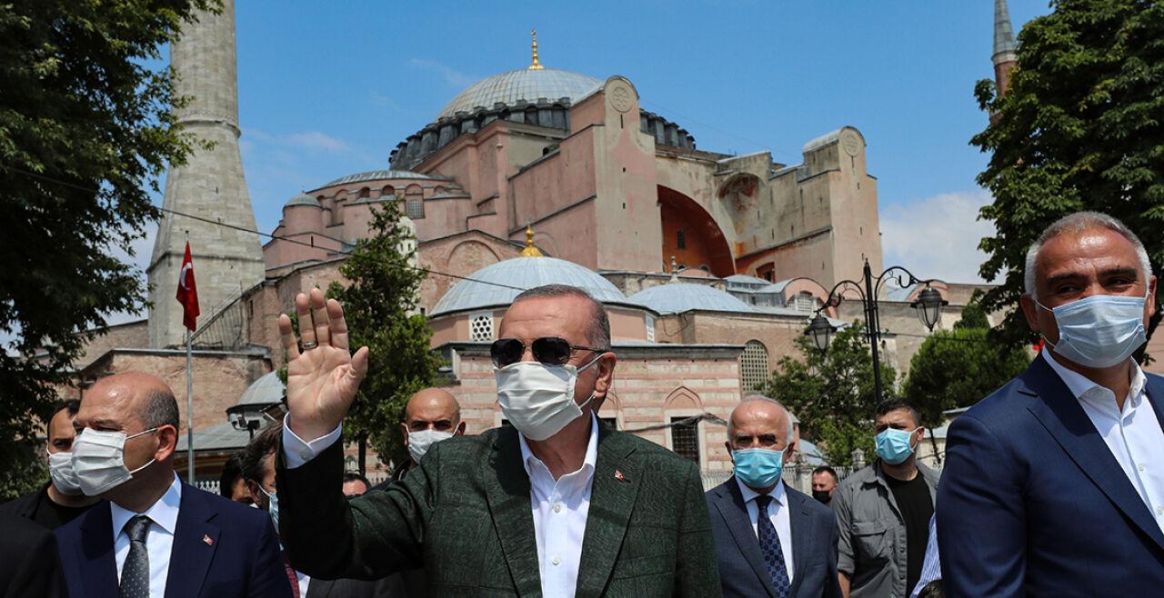 Erdogan Hagia Sophia - © APA / AFP / Turkish Presidential Press Service / Handout