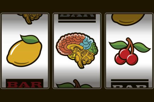 spielsucht - © Illustration: Rainer Messerklinger (unter Verwendung zweier Bilder von iStock/shopplaywood bzw. iStock/ photosoup)