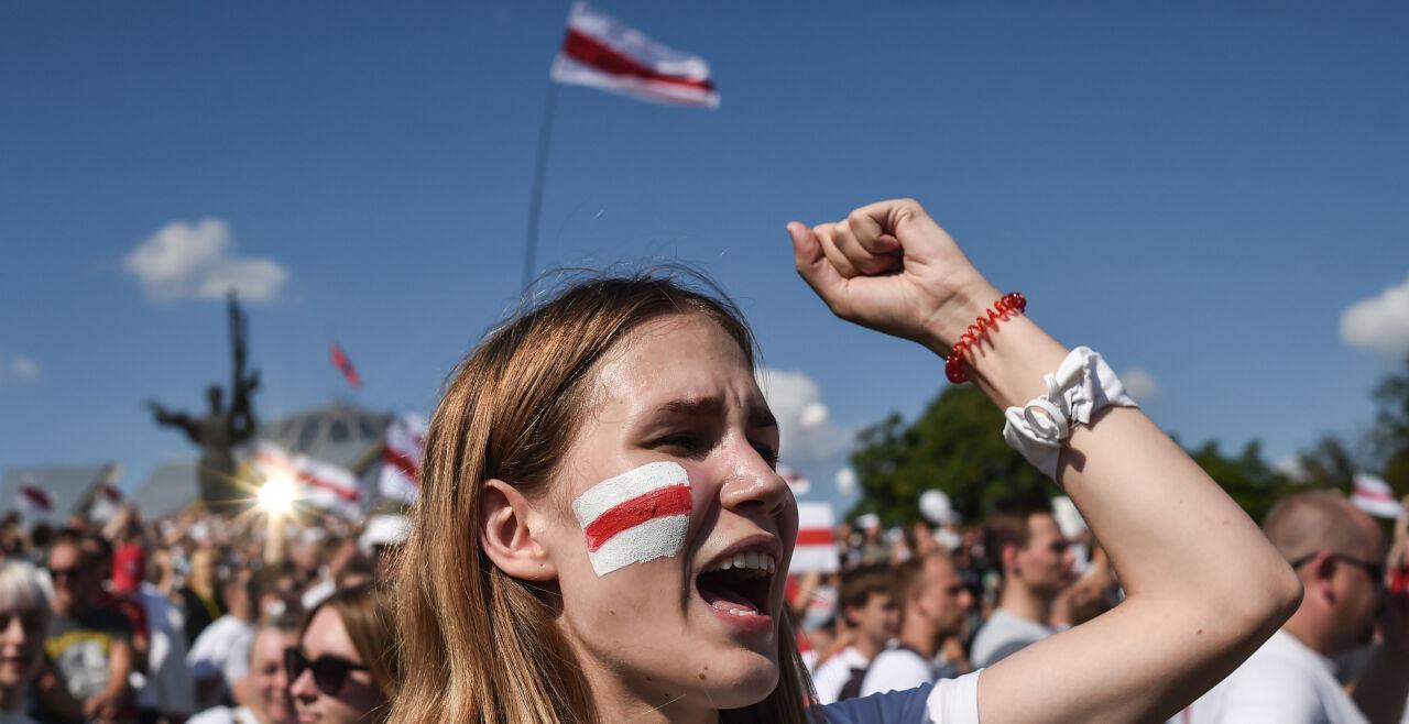 frauen belarus - © Foto: APA/ AFP / Sergei Gapon