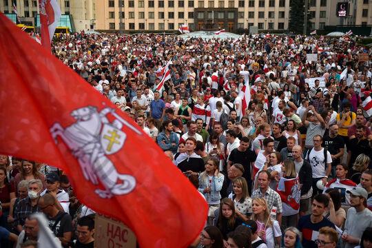 Minsk Proteste - © Foto: APA / AFP / Sergei Gapon