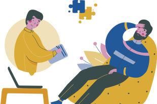 Online-Psychologie - © Foto: iStock / Victoria Volchenkova (Bildbearbeitung: Rainer Messerklinger)