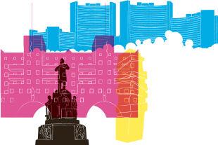 Buntes Wien - Zusammenlebenin Großstädten heißt, sich permanent auf neue Begegnungen einzustellen, sich von Neuem, Fremdem nicht bedroht zu fühlen, sondern diese Veränderungen in ein positives Momentum umzudeuten. - © Illustration: Rainer Messerklinger