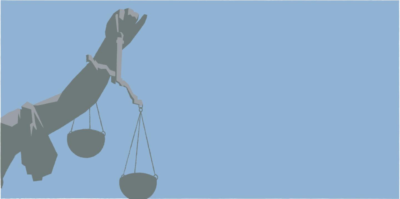 Der Laie als Richter?  - Wenn einen der Zufall zum Schöffen macht, tauchen vielen Fragen auf: Wie entscheiden? Schuldig? Nicht schuldig? Warum so, warum nicht anders? Oder den Berufsrichter machen lassen? - © Illustration: Rainer Messerklinger