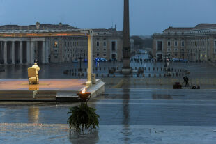Papst AND Petersplatz - © Foto: APA / AFP / Vatican Media / Handout