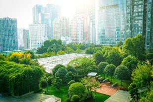 Grüne Stadt - © Foto: iStock/xijian