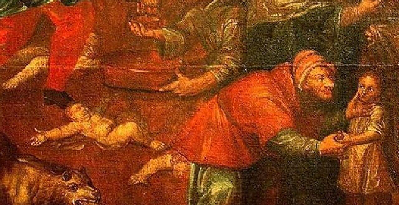 """Sandomierz - © Public Domain Foto    Ausschnitt aus dem Bild """"Kindermorde"""" von Karol de Prevot (1710) im Dom von Sandomierz."""