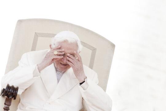 Papst Benedikt - © Foto: Getty Images / Alessandra Benedetti / Corbis