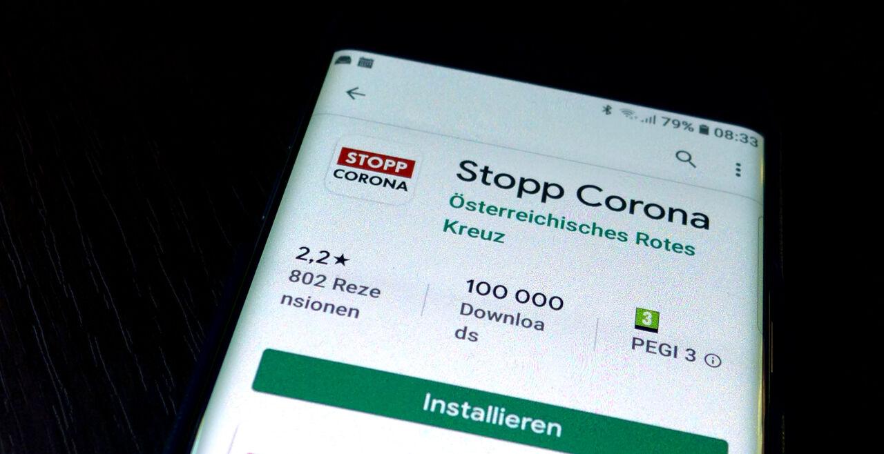 Stopp Corona App - © Foto: APA / Harald Schneider