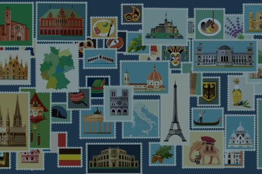 Briefmarken - © Illustrationen: iStock/Moloko88