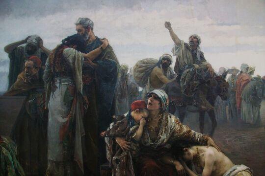 """L'expulsió dels moriscos - © Bild: Gabriel Puig Roda """"L'expulsió dels moriscos""""; Foto: Wikipedia / Joanbanjo (cc by-sa 3.0)"""