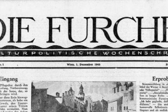 Furche alt sw - © Foto: Die Furche