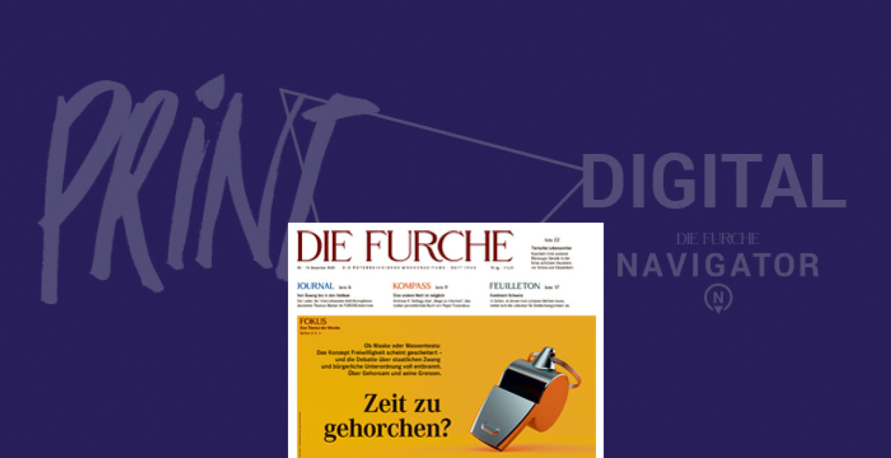 Furche Nr. 50 - © Cover: Rainer Messerklinger