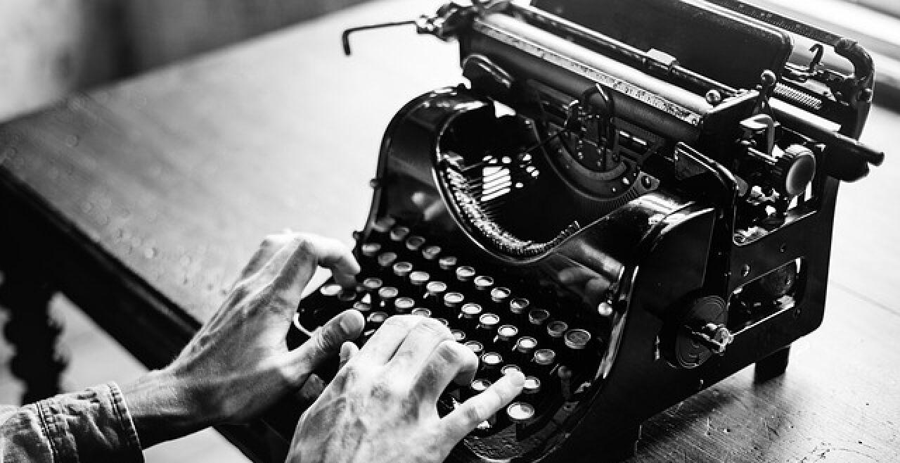 Schreibmaschine schwarz