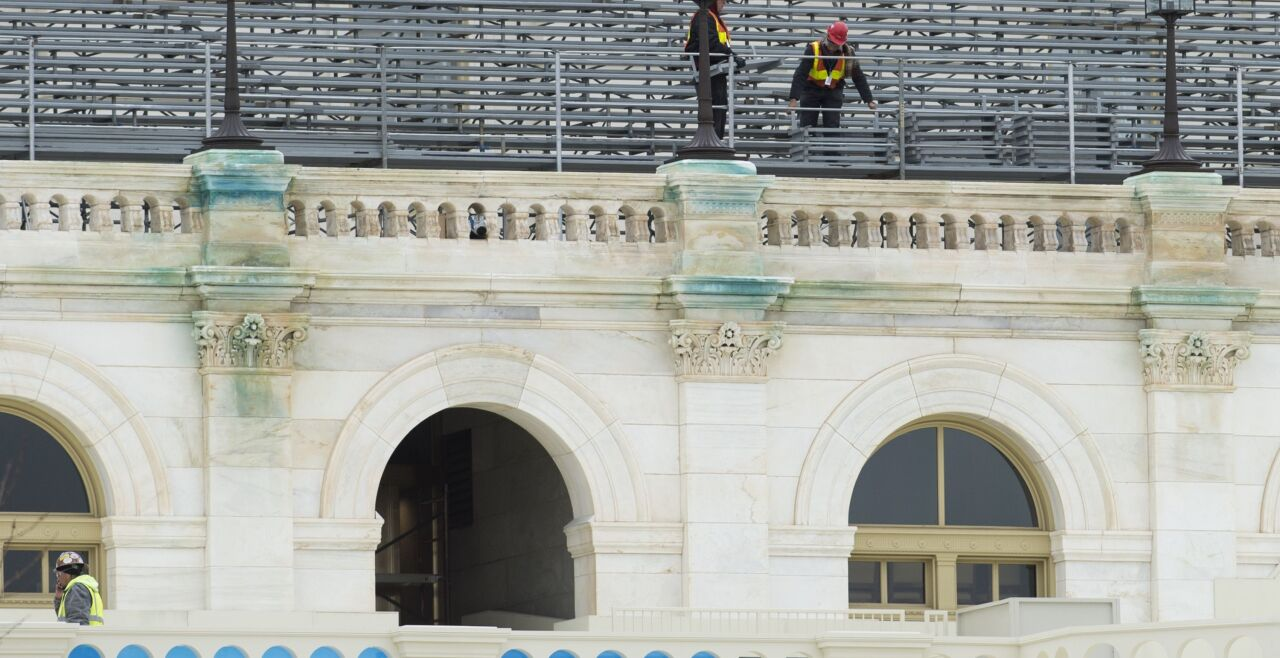 inauguration 2017 - © AFP / Saul Loeb   -   Kapitol: Vorbereitungen für die Inauguration von Donald Trump am 20. Jänner 2017